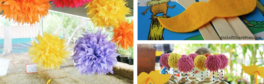 Lorax themed birthday party ideas via www.KarasPartyIdeas.com. Dr Seuss books.