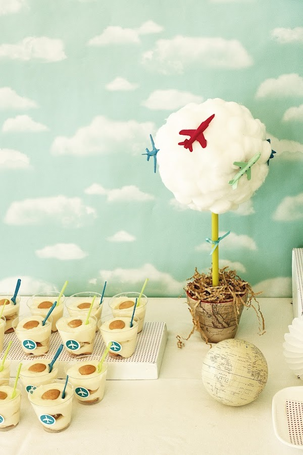 Kara 39 s party ideas airplane airport themed birthday for Airplane party decoration ideas