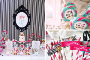 Mad Hatter Alice In Wonderland Birthday Party via Kara's Party Ideas- www.KarasPartyIdeas.com