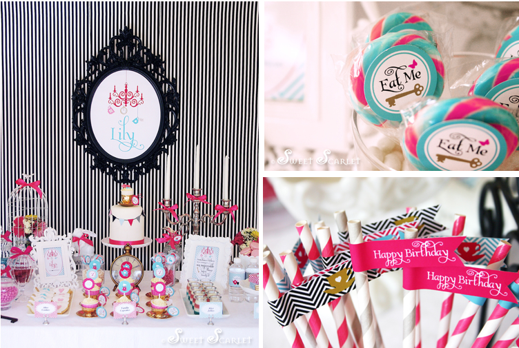 Kara 39 s party ideas mad hatter 7th birthday tea party for Decorating ideas alice in wonderland themed party