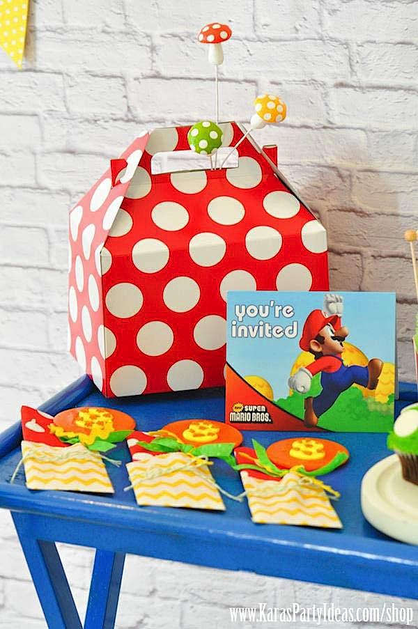 Mario Themed Birthday Party via Kara's Party Ideas - www.KarasPartyIdeas.com-3