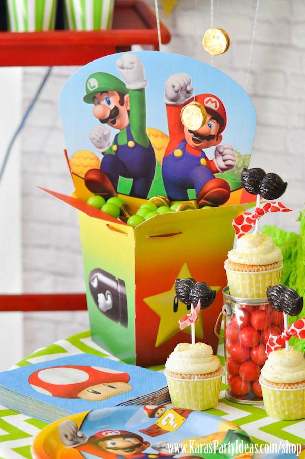 Karas Party Ideas Super Mario Bros Themed Birthday Party Planning