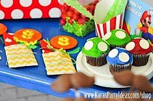 Mario Themed Birthday Party via Kara's Party Ideas - www.KarasPartyIdeas.com-44