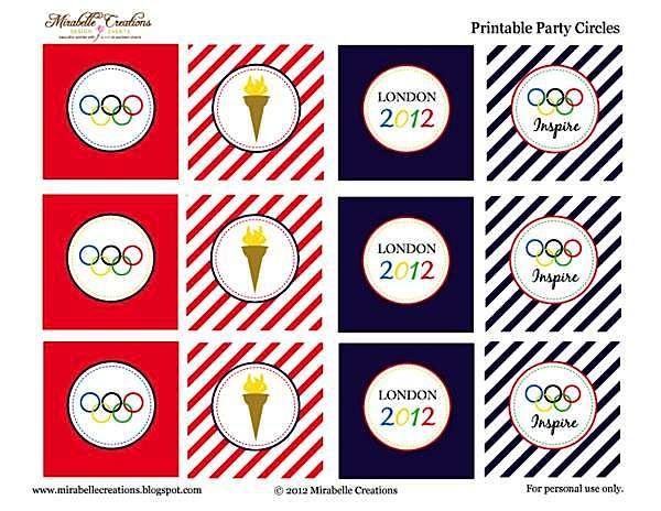 Kara\'s Party Ideas Olympic Themed Party- Free Printables!   Kara\'s ...