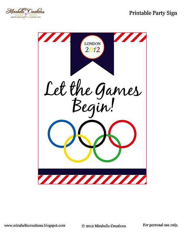Karas Party Ideas Olympic Themed Party Free Printables Karas