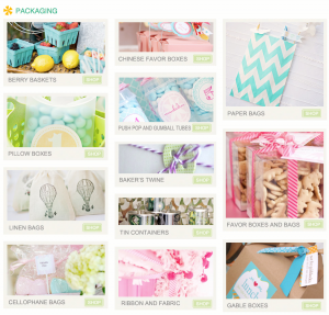 Packaging Kara's Party Ideas Shop