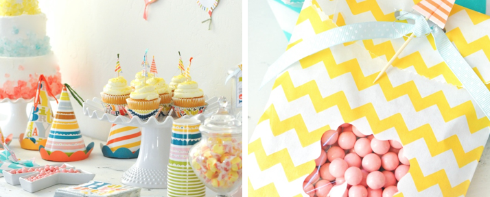 Patterned birthday party via Kara's Party Ideas- www.KarasPartyIdeas.com:shop