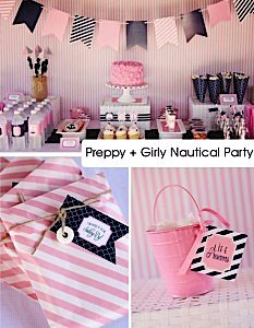Preppy   Girly Nautical Birthday Party via Karas Party Ideas- w_phixr-1