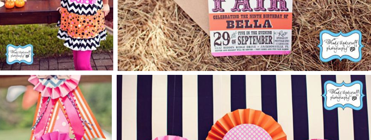 Pumpkin County Fair Birthday Party via Kara's Party Ideas - www.KarasPartyIdeas.com