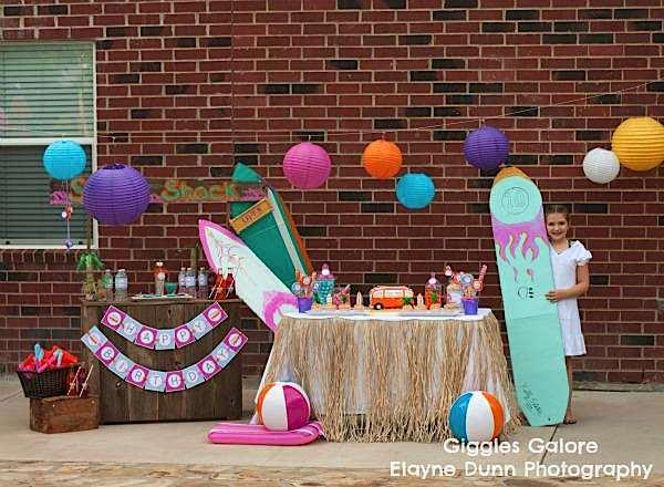 Kara S Party Ideas Hang 10 Retro Surf Girl Boy Beach