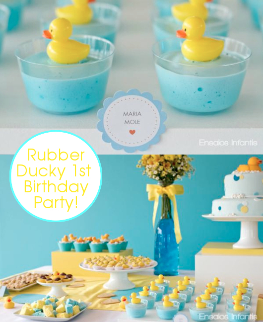 ideas yellow and blue rubber duckie 1st birthday party rubber duck