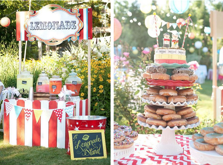 Kara S Party Ideas Outdoor Wedding Reception Carnival Circus Birthday Planning