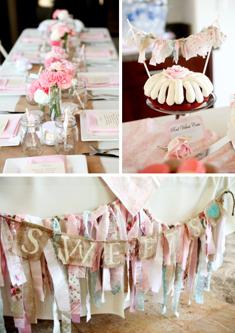 Shabby chic party decorations party favors ideas for Baby shower decoration ideas blog