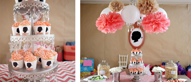 Silhouette & Chevron 2nd Birthday Party via Kara's Party Ideas - www.KarasPartyIdeas.com