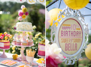 Sweet lemonade birthday party via Kara's Party Ideas - www.KarasPartyIdeas.com