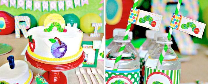 The Very Hungry Caterpillar 1st Birthday Party via Kara's Party Ideas - www.KarasPartyIdeas.com