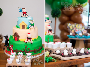 Three Little Pigs Birthday Party Theme Ideas Planning via Kara's Party Ideas www.KarasPartyIdeas.com