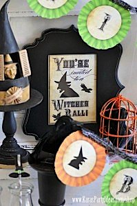 Witches Ball Halloween Party via Kara's Party Ideas Ideas -www.KarasPartyIdeas.com-shop-39