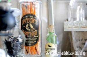 Witches Ball Halloween Party via Kara's Party Ideas Ideas -www.KarasPartyIdeas.com-shop-65