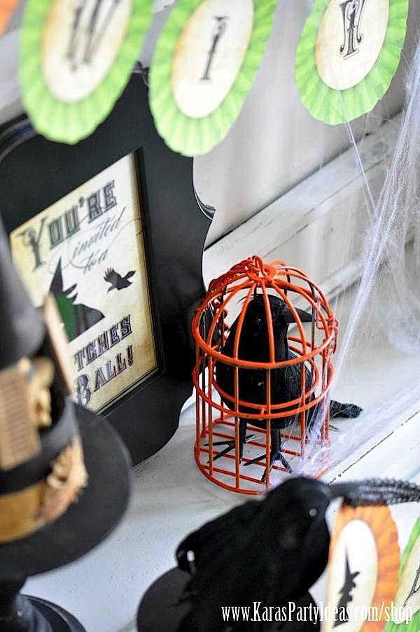 Witches Ball Halloween Party via Kara's Party Ideas Ideas -www.KarasPartyIdeas.com-shop-78