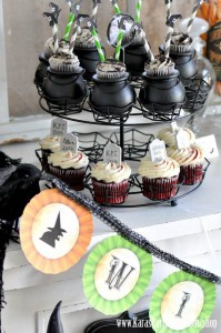 Witches Ball Halloween Party via Kara's Party Ideas Ideas -www.KarasPartyIdeas.com-shop-96