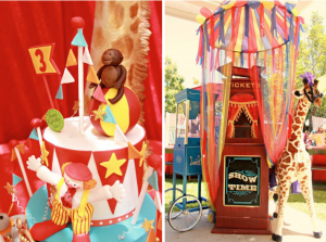 circus carnival themed birthday party via Kara's Party Ideas- www.KarasPartyIdeas.com