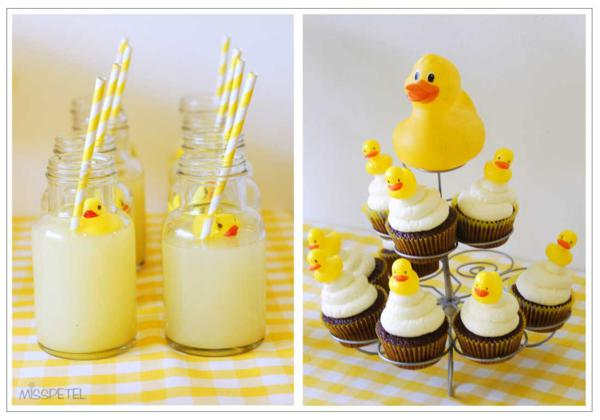 Kara S Party Ideas Yellow Ducky 2nd Birthday Party Rubber