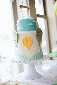 hot air balloon party cake idea