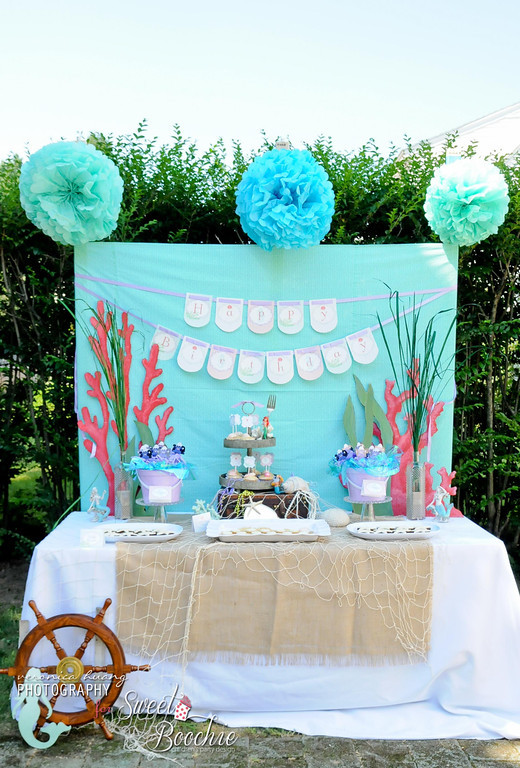 Kara 39 s party ideas ariel the little mermaid 5th birthday for Ariel decoration party