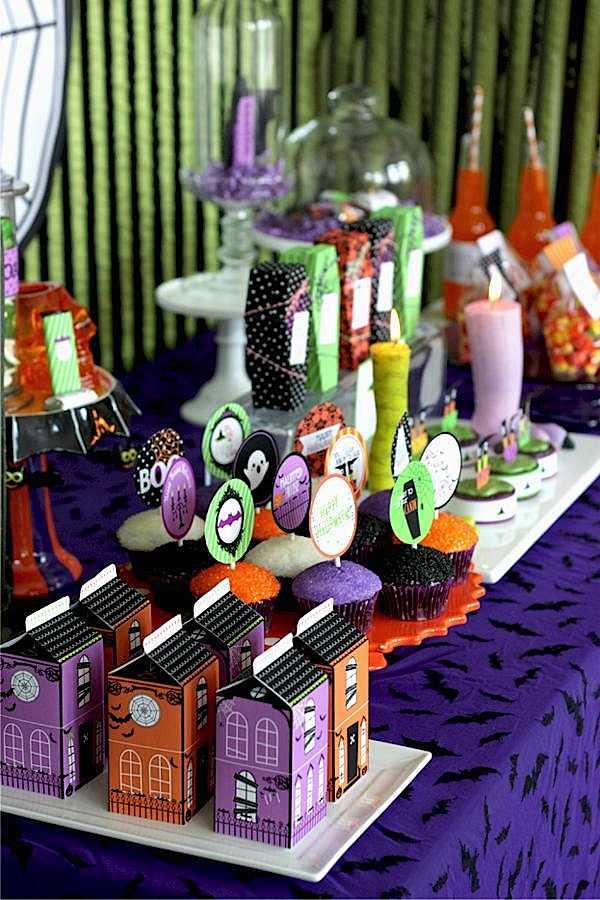 Kara 39 S Party Ideas Halloween Orange Purple Green Glam