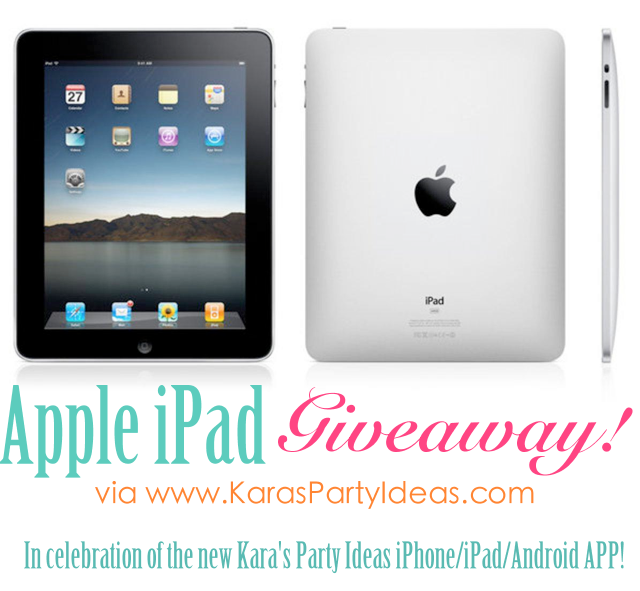 kara 39 s party ideas apple ipad giveaway celebrating kara