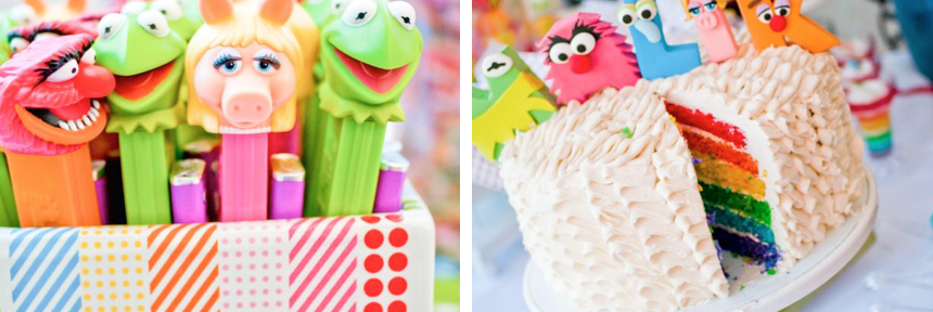 muppet themed inspired birthday party via Kara's Party Ideas- www.KarasPartyIdeas.com