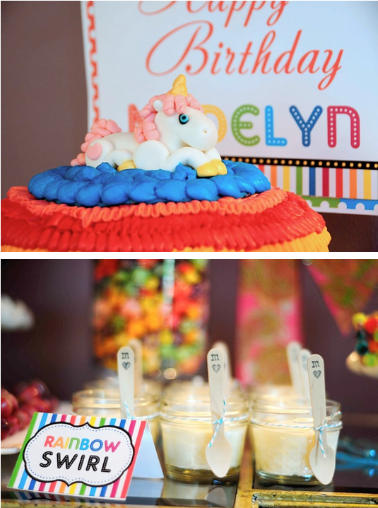 Karas Party Ideas Rainbow Unicorn 7th Birthday Party