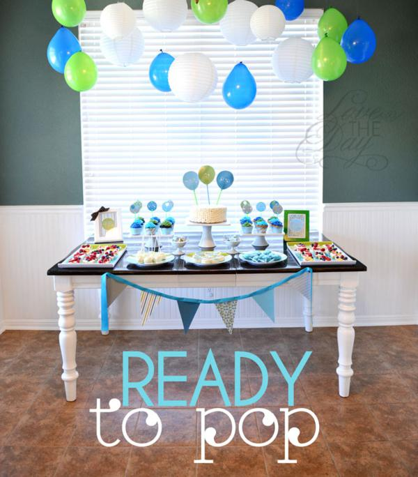 kara 39 s party ideas ready to pop blue green baby shower