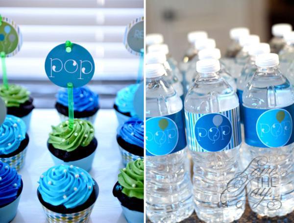 Karas Party Ideas Ready To Pop Blue Green Baby Shower Karas