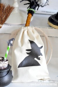silhouette with printables : linen bags- web size